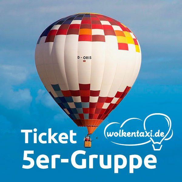 Ballonfahrt-Ticket 5er-Gruppe
