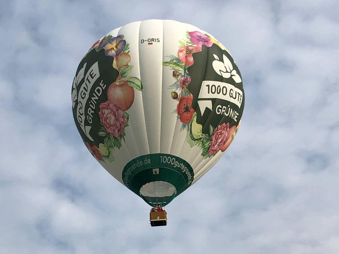 Blümchenballon Wolkentaxi
