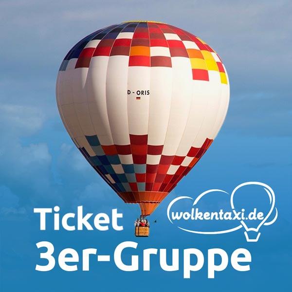 Ballonfahrt-Ticket 3er-Gruppe